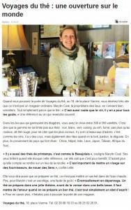 Article dans le Ouest France du 13 Avril